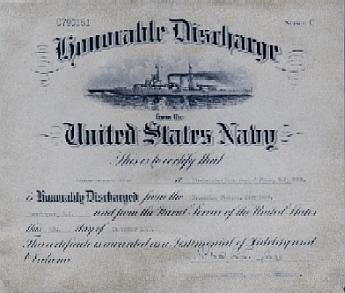 Copy of the Honorable Discharge.  Scroll down to read what it says.