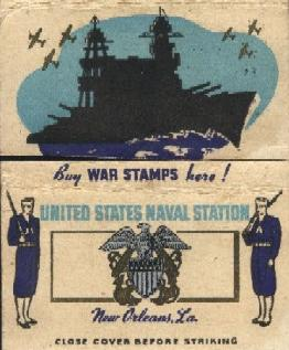 Matchbook from US Naval Station New Orleans